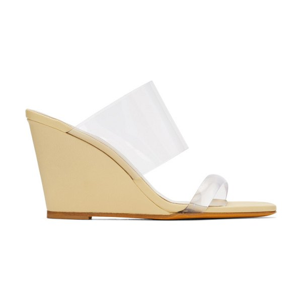 Maryam Nassir Zadeh yellow olympia wedge sandals in 371 hust