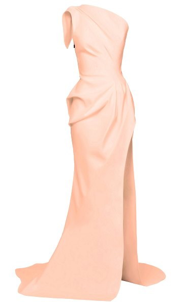 Maticevski boundless cutout one-shoulder crepe gown in pink