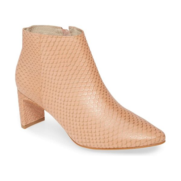 Matisse crush bootie in blush leather