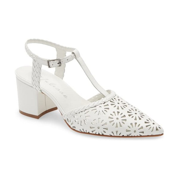 Matisse portia pointy toe pump in white leather