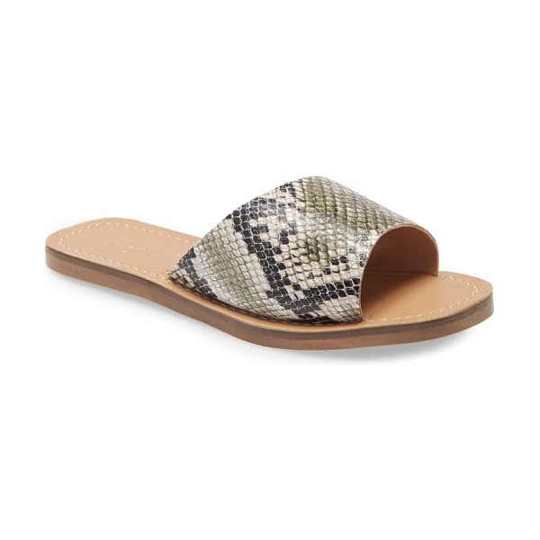 Matisse sage slide sandal in khaki snake leather