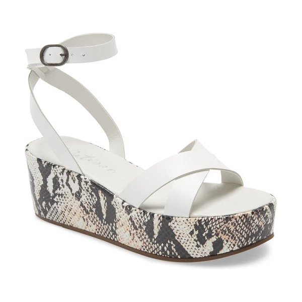 Matisse sure thing platform wedge sandal in white leather