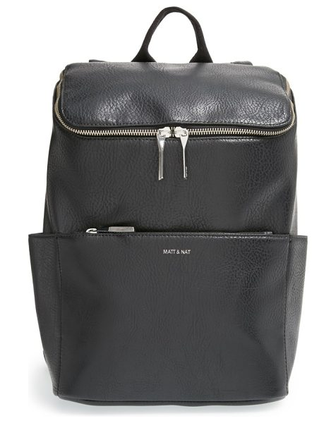 Matt & Nat 'brave' faux leather backpack in black
