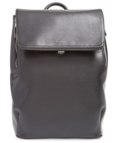 Matt & Nat 'fabi' faux leather laptop backpack in black