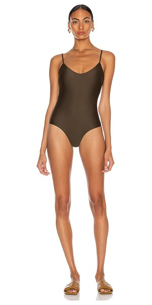 MATTEAU scoop maillot swimsuit in thyme