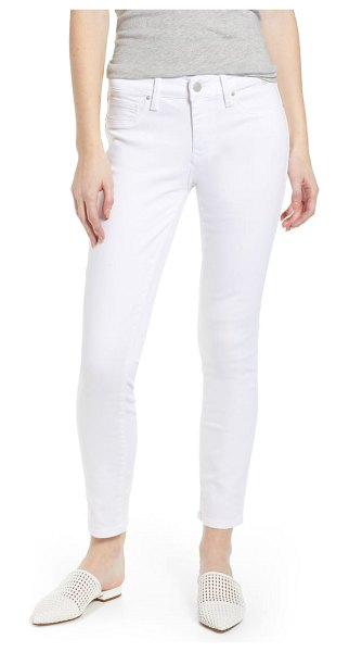 Mavi Jeans adriana ankle skinny jeans in double white tribeca - Lean and leggy mid-rise jeans are cut from soft,...