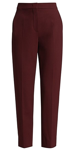 Max Mara 3pegno jersey cropped pants in dark red