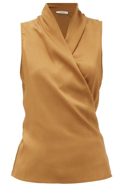 Max Mara elce blouse in mid brown