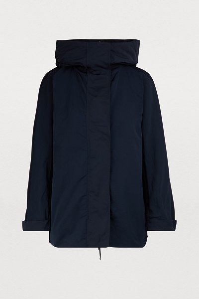 Max Mara Faille parka in navy