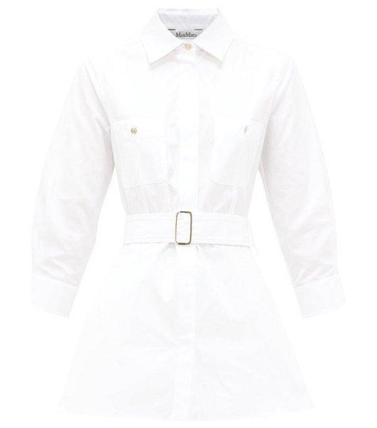 Max Mara marche blouse in white