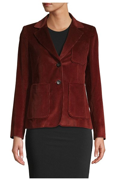Max Mara Notched Cotton Blazer in rust