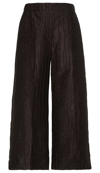 Max Mara pernice cropped jacquard wide-leg pants in brown
