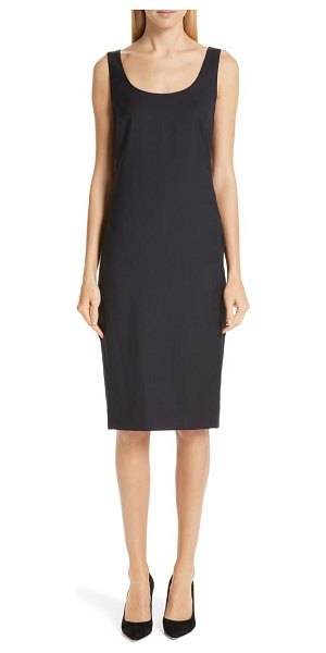 Max Mara pompei wool sheath dress in blue - Designed with all-important pockets and wear-anywhere...