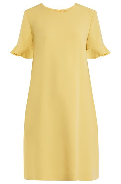 Max Mara Studio Eiffel Dress In Yellow The Sunflower Hue And Effortless Structure
