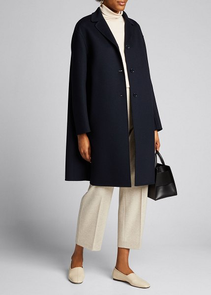 Max Mara The Cube Chic Coat in dark blue