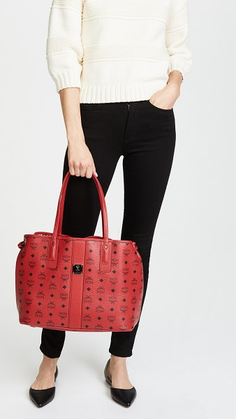 MCM shopper tote in ruby red
