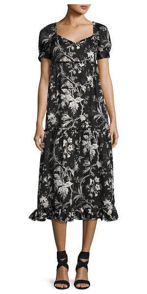 MCQ BY ALEXANDER MCQUEEN Ruffle Floral-Print Négligée Dress - McQ Alexander McQueen floral-printed nglige dress....