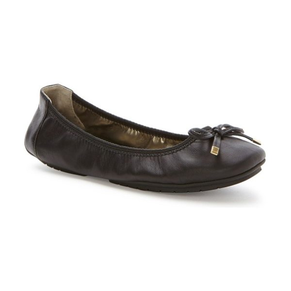 Me Too 'halle 2.0' ballet flat in black nappa leather