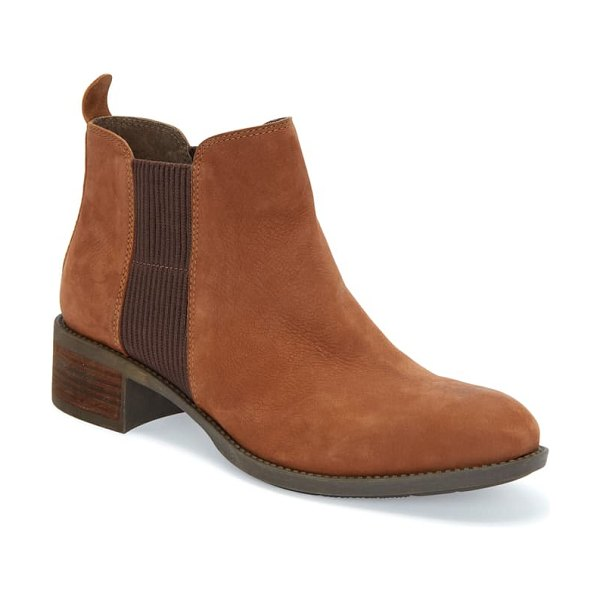 Me Too shane chelsea boot in dark camel nubuck leather