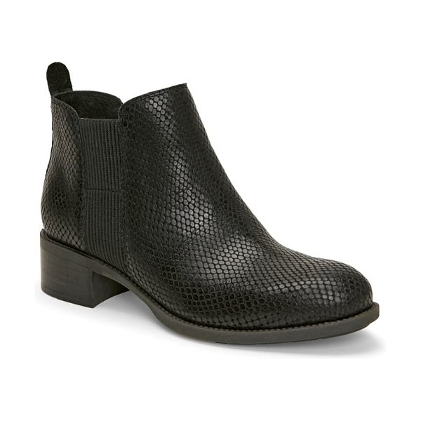 Me Too shane chelsea boot in black print snake leather