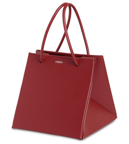 Medea Ice leather bag in bordeaux