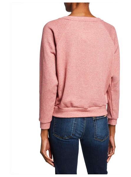 Melissa Masse Cheetah Graphic Stretch Fleece Sweatshirt in rose