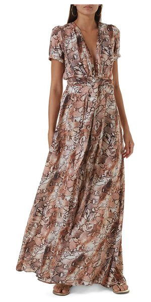 Melissa Odabash lou maxi cover-up in snake