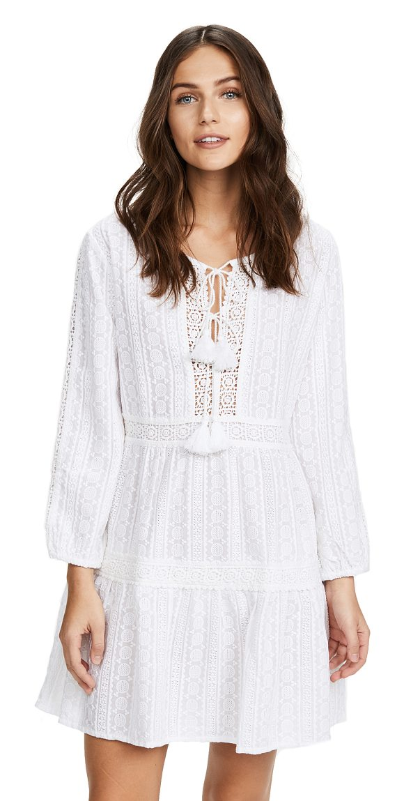 Melissa Odabash reid dress in white - A Melissa Odabash dress accented with tonal lace and...
