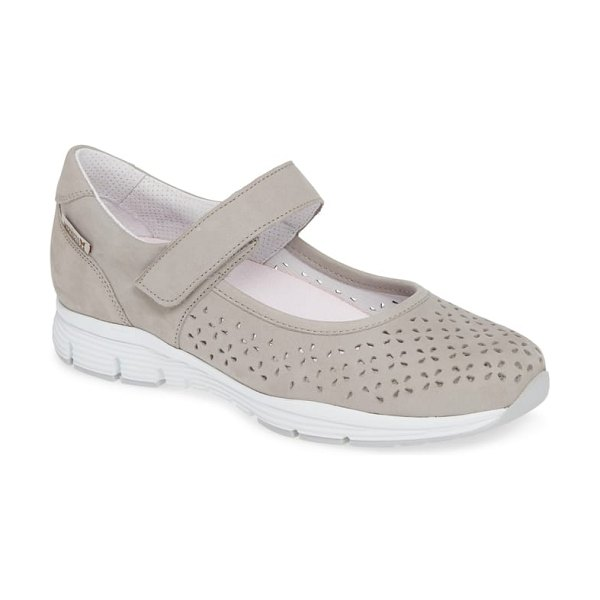 Mephisto yelina perforated mary jane sneaker in cloud leather