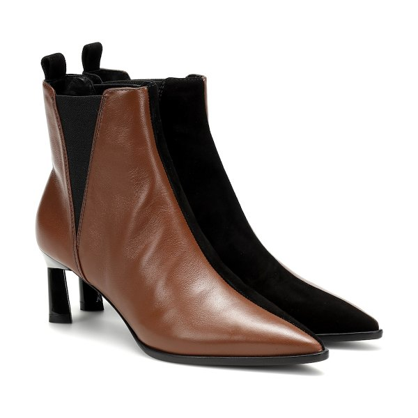MERCEDES CASTILLO eletta leather ankle boots in brown