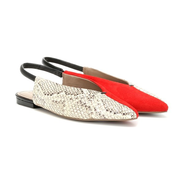 MERCEDES CASTILLO evetta leather slingback ballet flats in multicoloured
