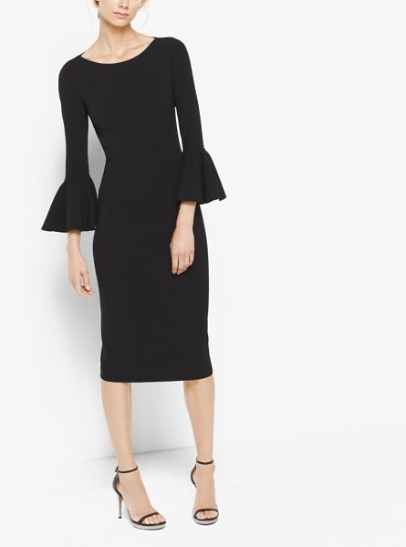 Michael Kors Collection Bell-Cuff Sheath Dress in black - Bell Sleeves Infuse This Sheath Dress With A Touch Of...