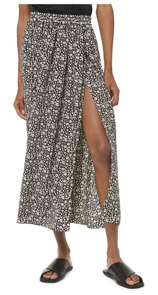 Michael Kors Collection printed silk scissor skirt in floral