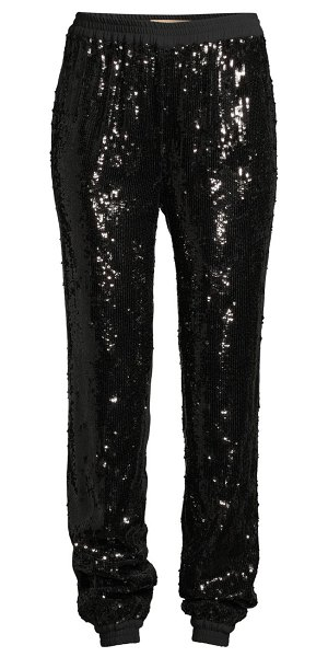 Michael Kors Collection sequin jogger pants in black