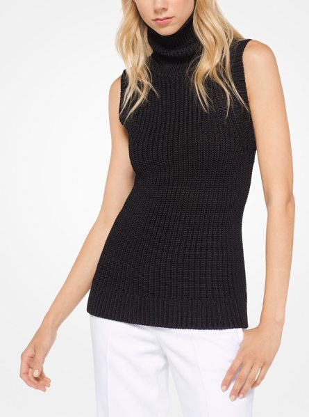 Michael Kors Collection Stretch-Viscose Pullover in black - Ribbed In Stretch-Viscose This Sleeveless Turtleneck Is...