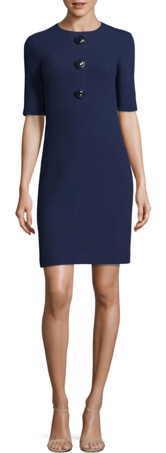 MICHAEL KORS COLLECTION stretch wool dress - Stretch wool dress accented with polished buttons....