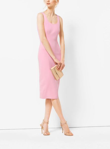 Michael Kors Collection Stretch-Wool Sheath Dress in pink - The Ever-Sophisticated Sheath Dress Is Freshened Up This...