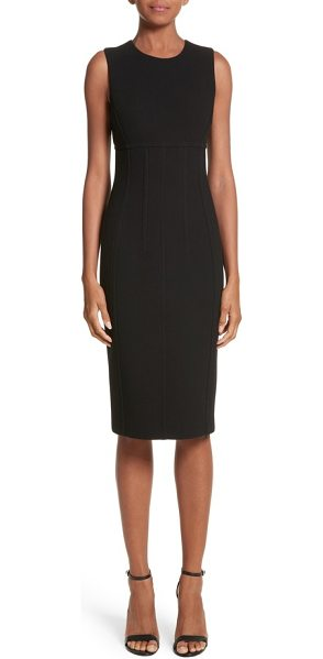 MICHAEL KORS stretch boucle crepe sheath dress - Shapely princess seams and supportive boning streamline...