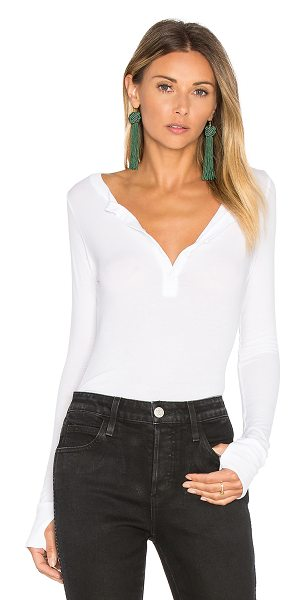 MICHAEL LAUREN vance long sleeve henley in white