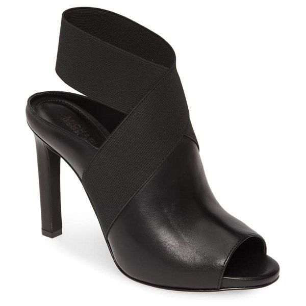 MICHAEL Michael Kors ames open toe bootie in black leather multi