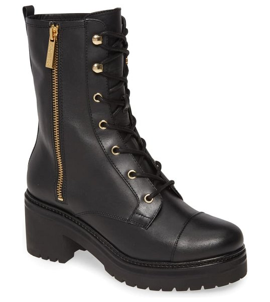 MICHAEL Michael Kors anaka lace-up boot in black vachetta leather