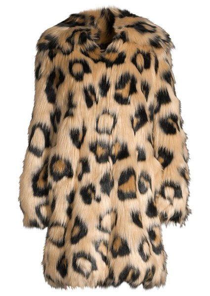 MICHAEL Michael Kors animal printed faux-fur coat in dark camel