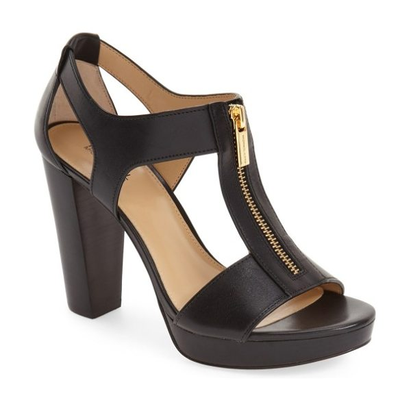 MICHAEL Michael Kors 'berkley' t-strap sandal in black