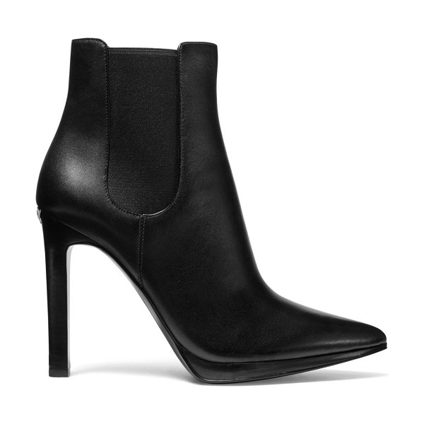 MICHAEL Michael Kors brielle leather ankle boots in black