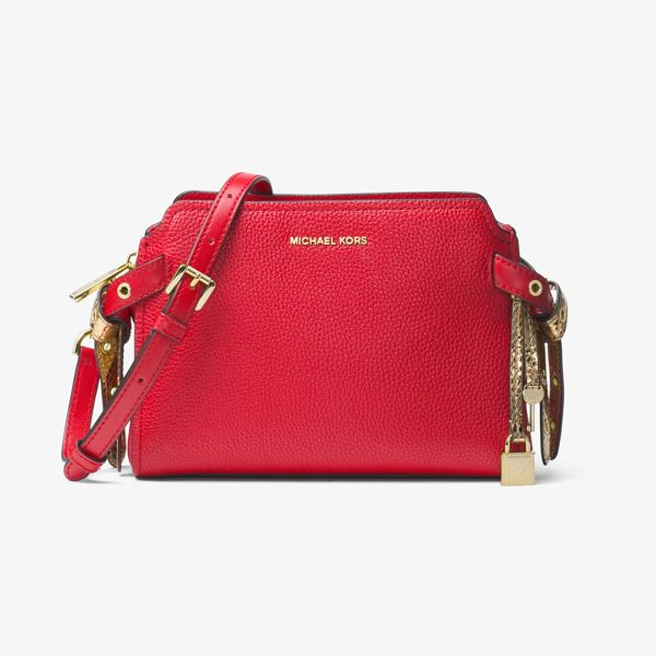 MICHAEL MICHAEL KORS Bristol Leather Messenger - Crafted From Pebbled Leather In A Chic And Compact...