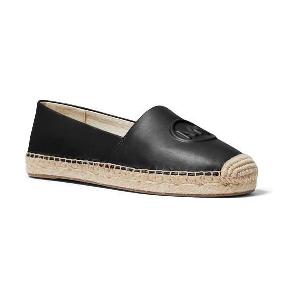 MICHAEL Michael Kors Dylyn Leather Logo Espadrille Flats in black