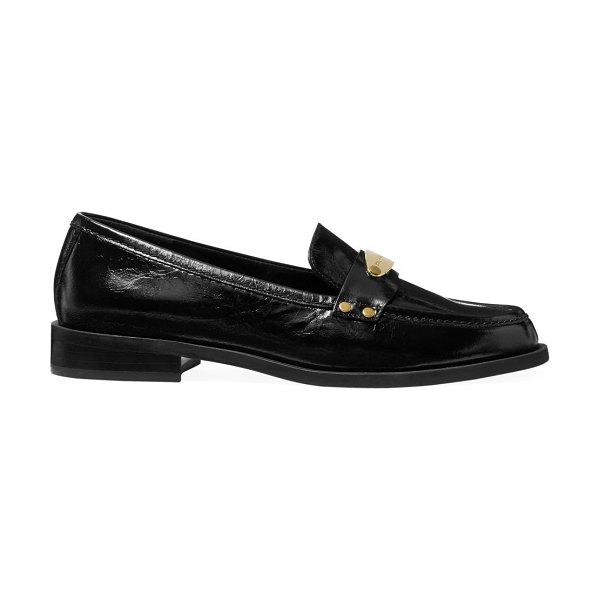 MICHAEL Michael Kors finley crinkle leather loafers in black