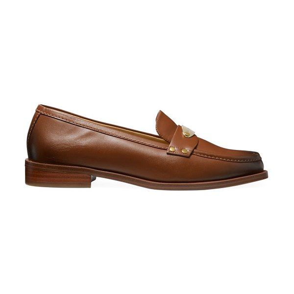 MICHAEL Michael Kors finley leather loafers in luggage