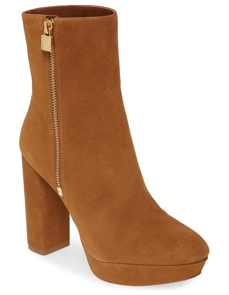 MICHAEL Michael Kors frenchie platform bootie in amber suede