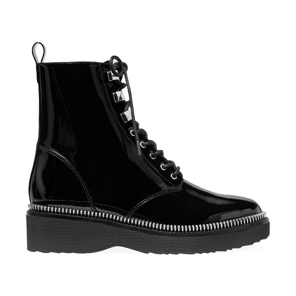 MICHAEL Michael Kors haskell patent leather combat boots in black